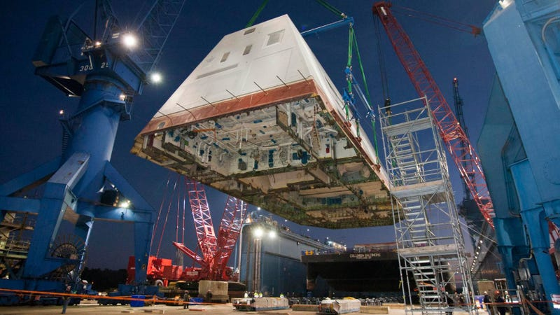 The USS Zumwalt Deck Looks Like a Part of an Imperial Star Destroyer