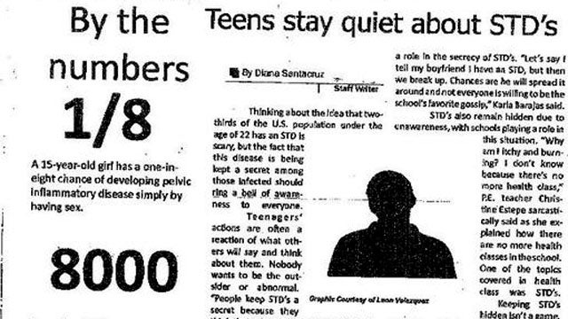 Boy Sues School Newspaper for Illustrating STD Article with His Face