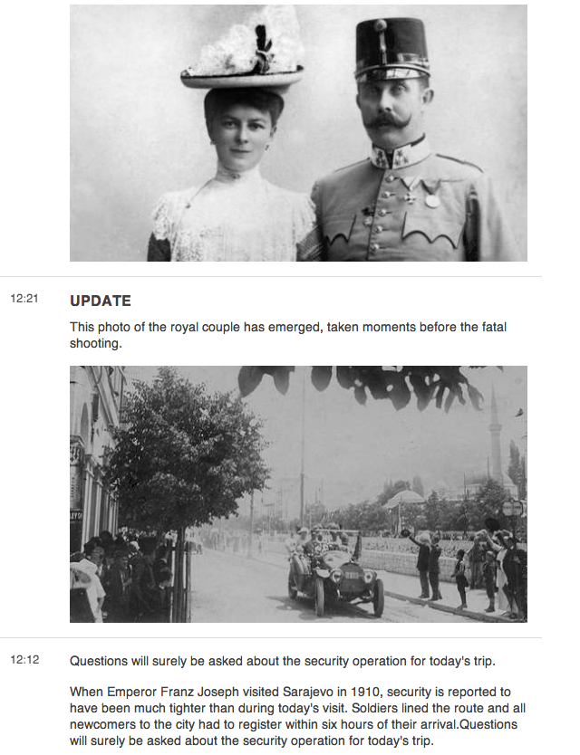 What If the Assassination Of Franz Ferdinand Had Been Liveblogged?