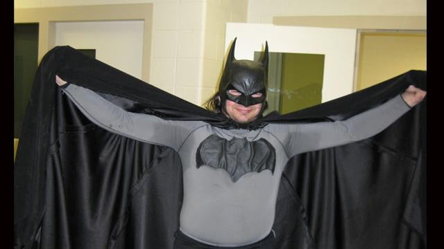 """Batman"" arrested on roof in Michigan"