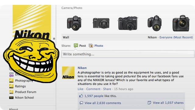 "Nikon Trolls Photographers Saying You're ""Only As Good As Your Equipment"""