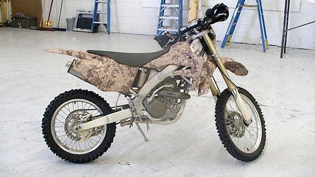 This Is Special Ops' Afghanistan Camo Dirt Bike