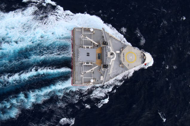 The Russian Military Despises This Strange Wedge Shaped Spy Ship