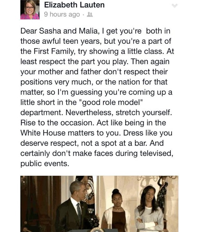 "GOP Staffer Calls Obama Daughters Classless, Dressed for the ""Bar"""