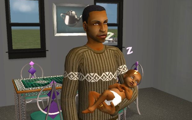 Meeting My Daughter For The First Time (In The Sims)