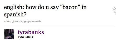 Lauren Bacall Wants A Cigarette; Tyra Wants Bacon