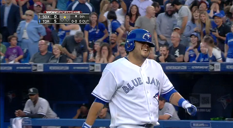 Dioner Navarro Tries To Stretch Double Into Inside-The-Park HR, Fails