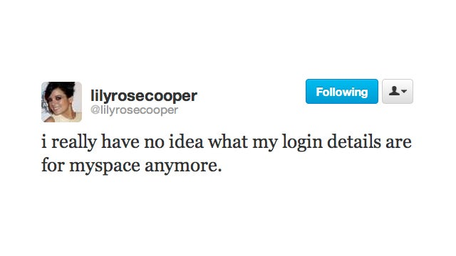 It's the End of an Era: Lily Allen Forgets Her Myspace Password
