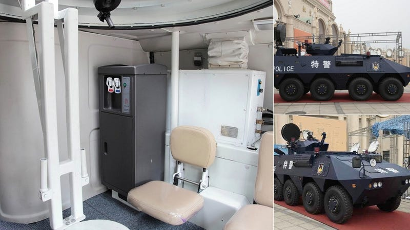 This Chinese Riot APC Looks More Comfortable than Your Dorm Room