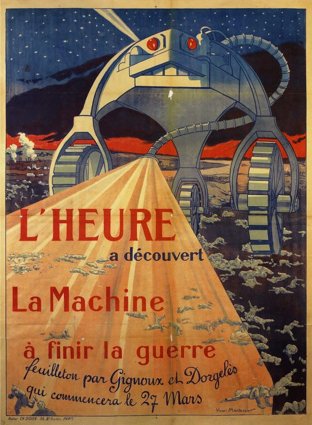 This Propaganda Poster Showed Martian Technology Winning World War I