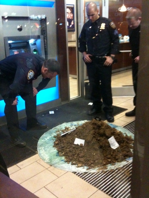Someone Left a Giant Pile of Poo at an East Village Bank