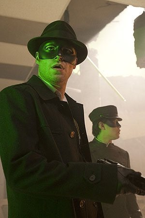 Behind the scenes Green Hornet photos