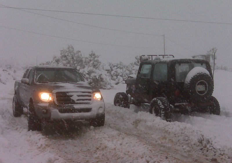 Suzuki Equator Goes For A Snowy Drive...In California