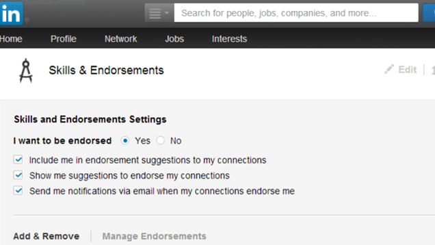 Turn Off LinkedIn's Annoying Endorsements