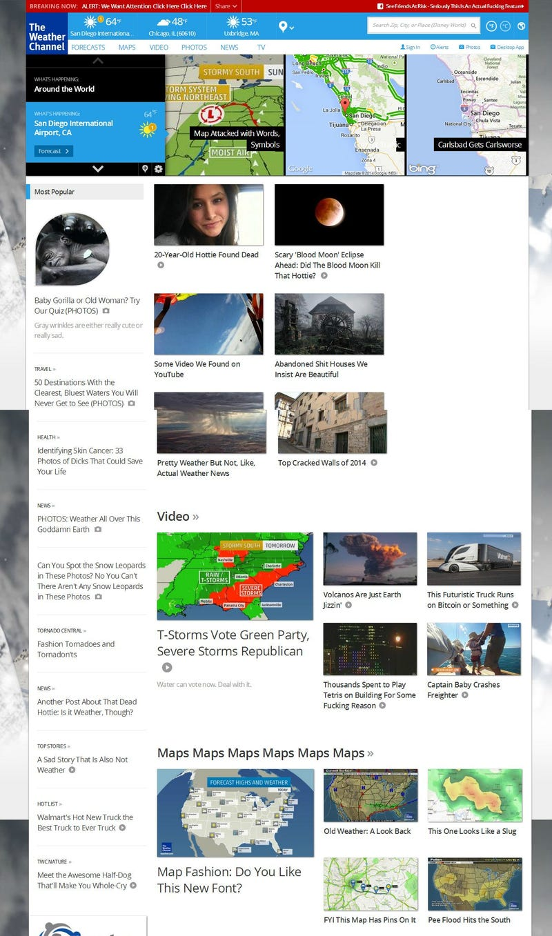 If Weather.com's Headlines Were Honest, This Is What They'd Say