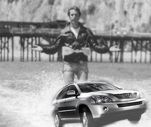 Fonz Tours UK In Lexus Hybrid, Shark-Filled Channel Jump Not Scheduled