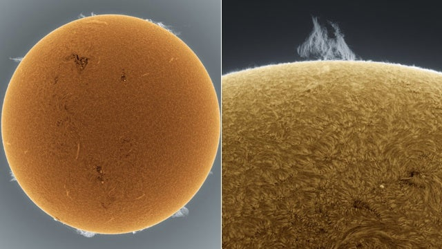 These Stunning Images of the Sun Were Snapped From a Dude's Backyard