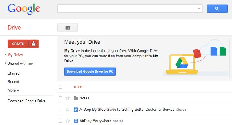 Google Drive Is Alive: 5GB of Free Dropbox-Like Storage on Google's Servers