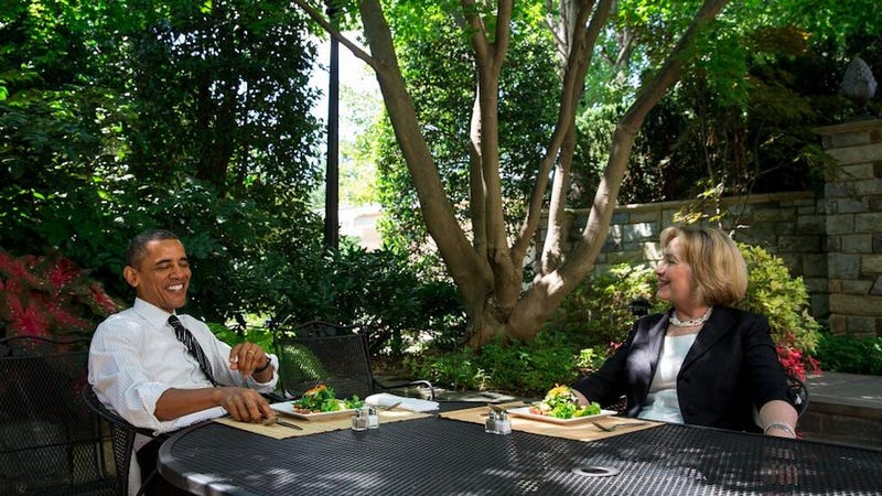 Hillary Clinton and President Obama Veg Out