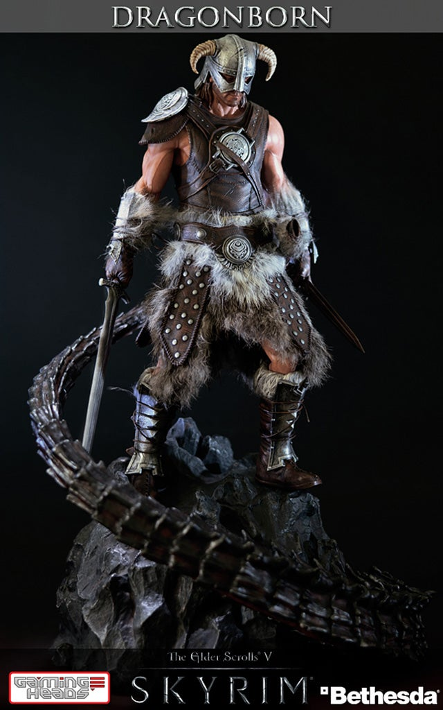 This is Obviously a Heavily-Modded PC Version Skyrim Statue