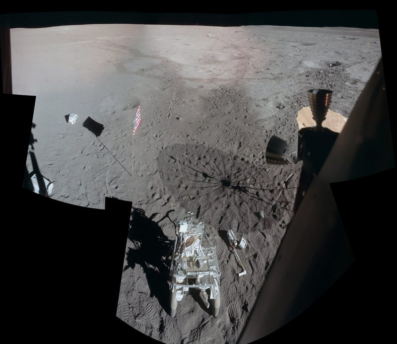 Apollo 14 visited the Moon forty years ago today