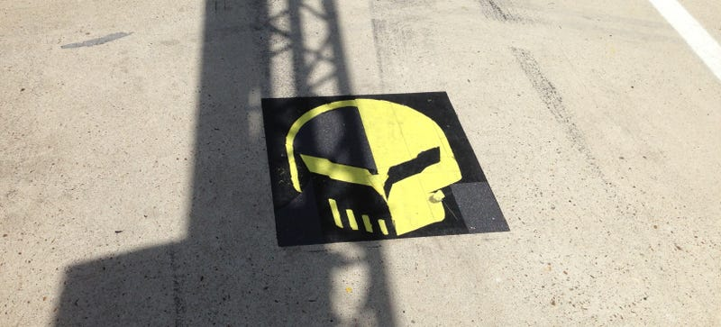 The Corvettes Have The Best/Most Sinister Pit Lane Marker At Le Mans