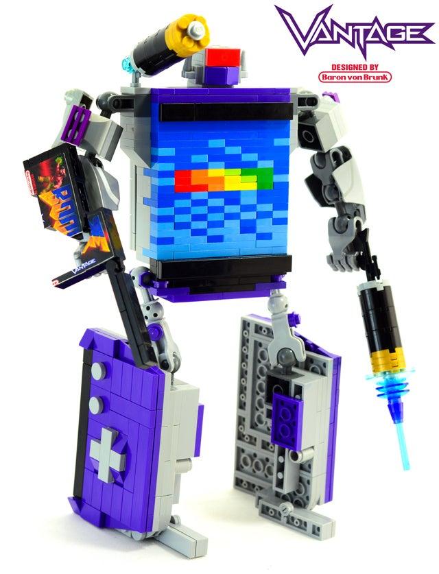 Kickass LEGO Transformer Turns Into a Game Boy Advance