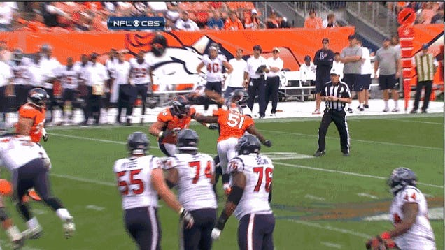 Houston Hangs On To Beat The Broncos In Denver, In Two GIFs
