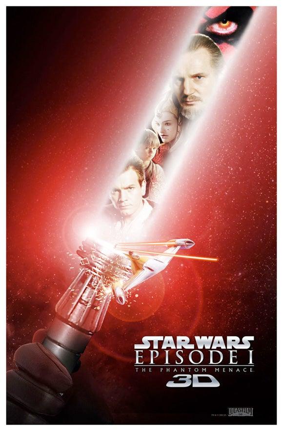 Star Wars Phantom Menace 3D Posters