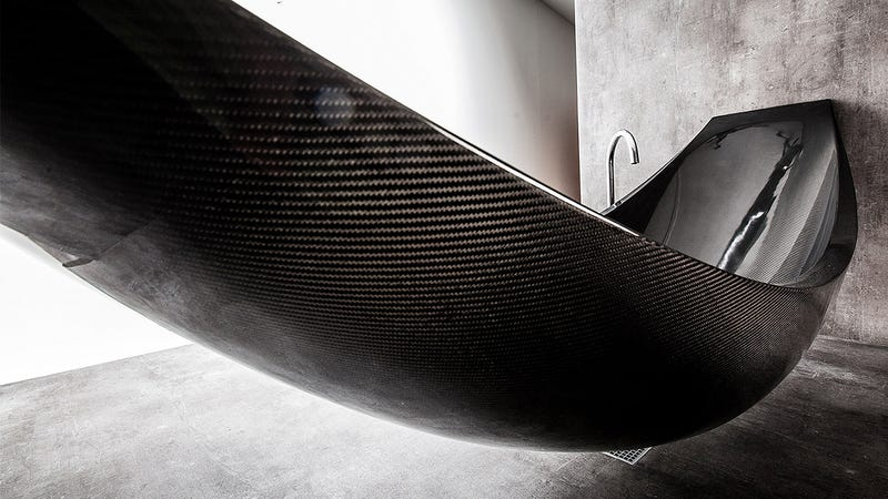 This Insane Carbon Fiber Hammock Bathtub Is the Epitome Of Relaxation