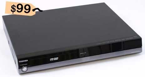 Toshiba HD-A2 HD DVD: $99 at Wal-Mart