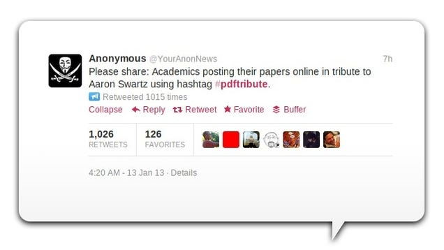 Academics Are Tweeting Out PDFs of Journal Articles in Memory of Aaron Swartz