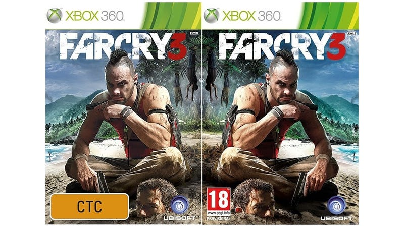 See, Video Game Covers in the U.K. are Like This and in Australia They're Like ƨiʜT
