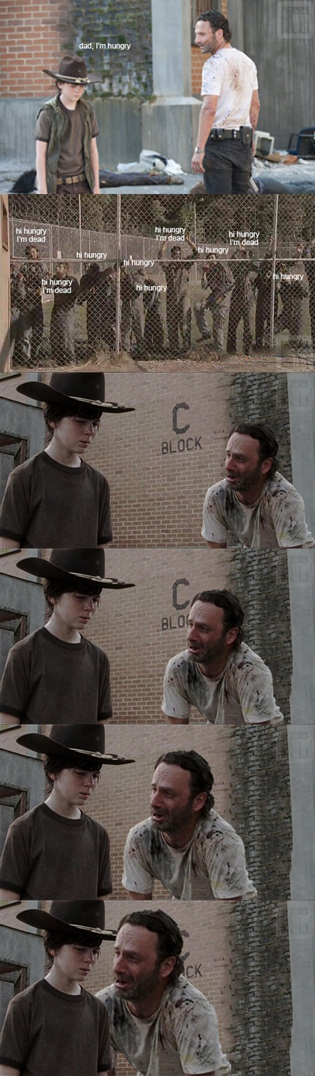 Rick Grimes tells Dad Jokes at the Worst Time...