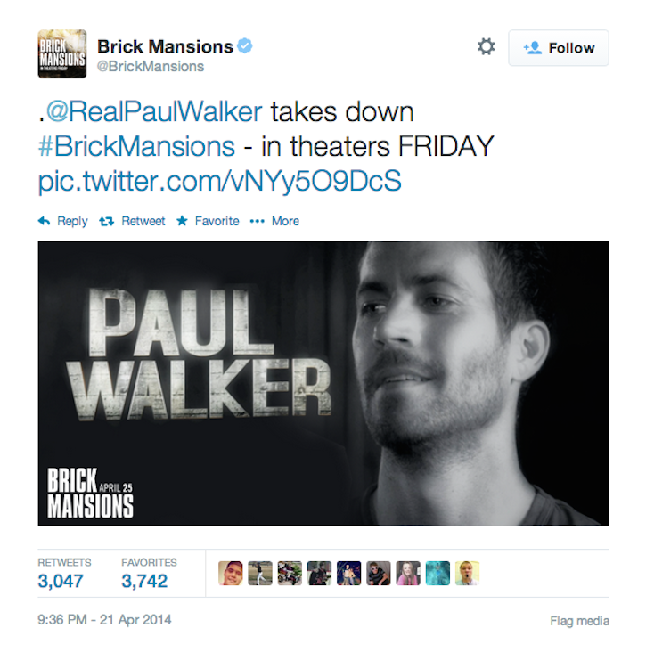 Why is Paul Walker's New Movie Tagging Him on Twitter Like He's Alive?
