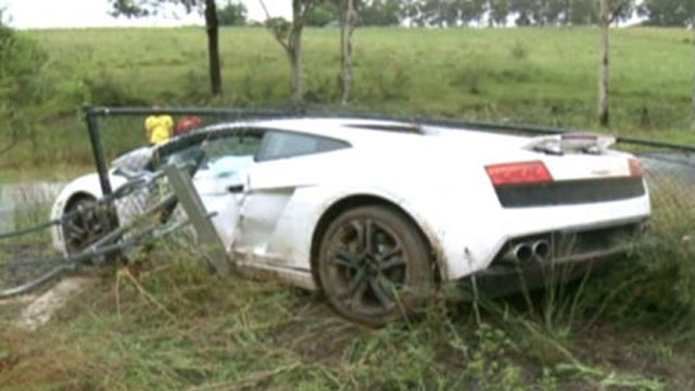 Unfortunate groom crashes Lamborghini on his way to get married
