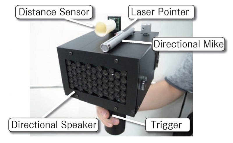 Japanese researchers build speech-jamming gun that stops you mid-sentence