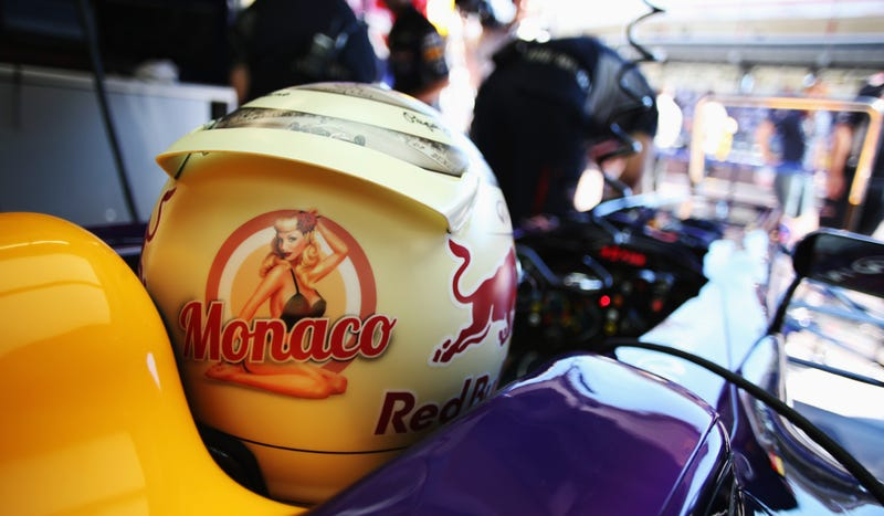 Sebastian Vettel's Monaco Helmet Reveals A Naked Pinup When Heated