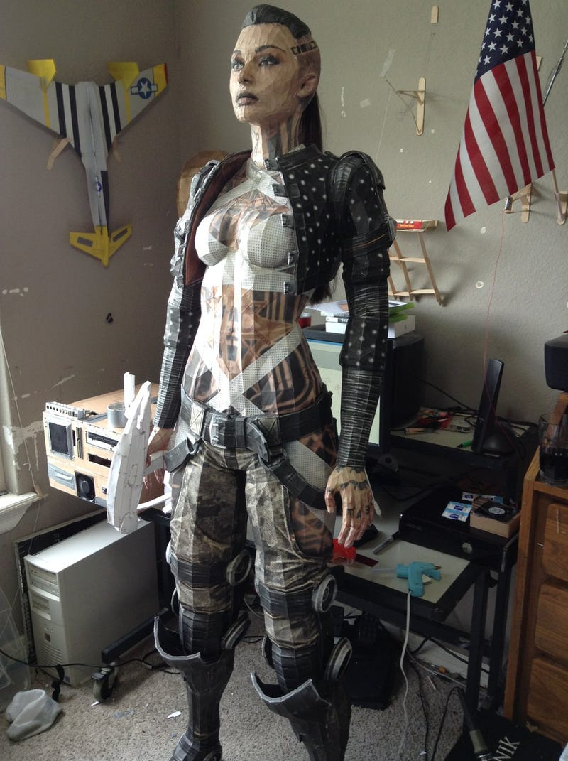 This Amazing Life-Sized Mass Effect Party Member Is Made of Paper