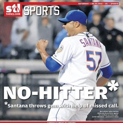 Santana No-Hitter Gets Asterisk In St. Louis