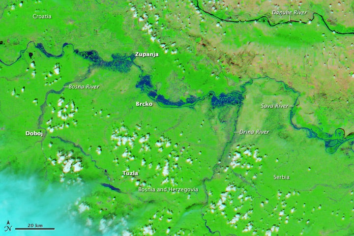 Incredible Satellite Image Shows Extent of Horrific Flooding in Europe