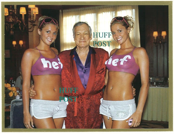 Hef and the Body-Painted Twins Wish You a Very Perky, NSFW Christmas