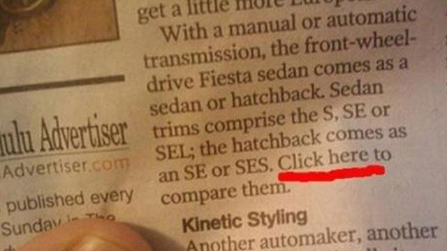 Why Is There a Hyperlink In a Newspaper?