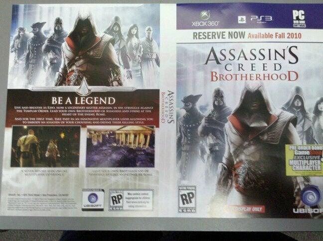 GameStop Placeholder Art Names Assassin's Creed: Brotherhood - Update