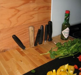 DIY Butcher Block Knife Slot