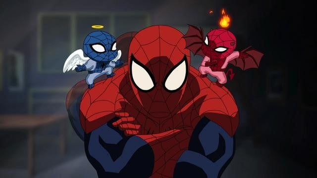 Spider-Man cartoon to promote Spider-Man comics, just not... Spider-Man? Huh?
