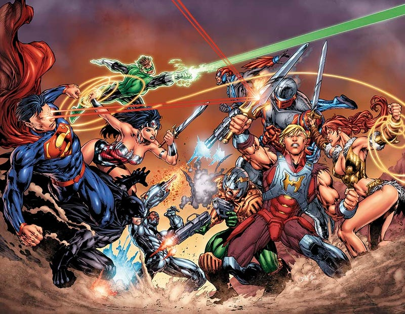 It's Superman vs. He-Man in This New Comics Crossover