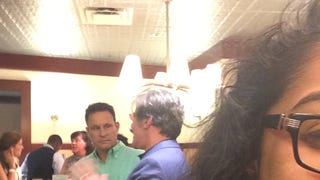 SPOTTED: Geraldo Rivera mid-rant with Brian Kilmeade at the Mets game