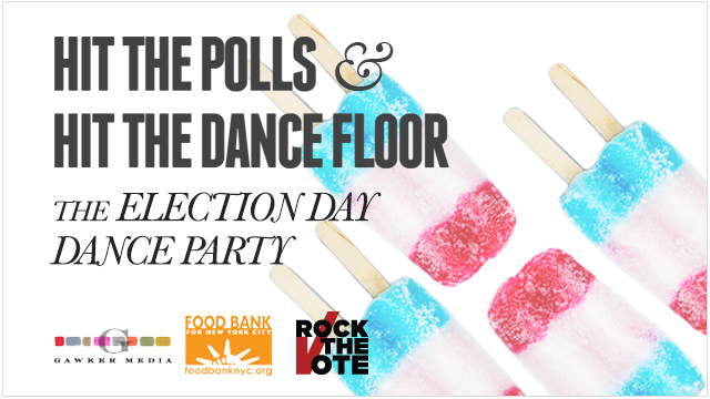 Hit the Polls, Hit the Dance Floor, and Help Sandy Relief Efforts