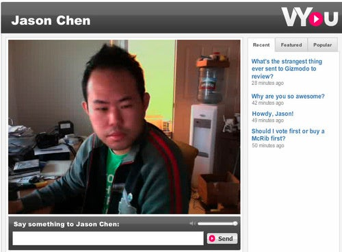 VYou Lets You Answer Questions Online, Video Style